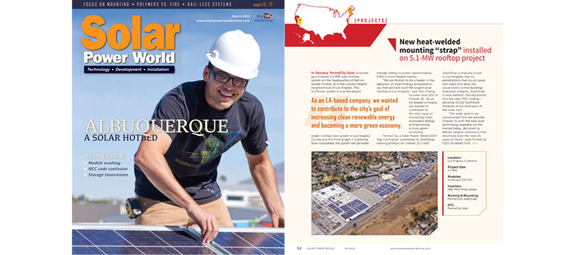 """New Heat-welded Mounting """"strap"""" Installed on 5.1-MW Rooftop Project"""