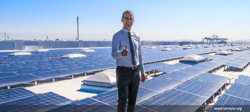 MAYOR GARCETTI ANNOUNCES COMPLETION OF THE WORLD'S MOST POWERFUL ROOFTOP SOLAR PROJECT