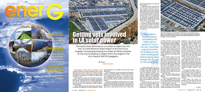 Getting Vets Involved in LA Solar Power
